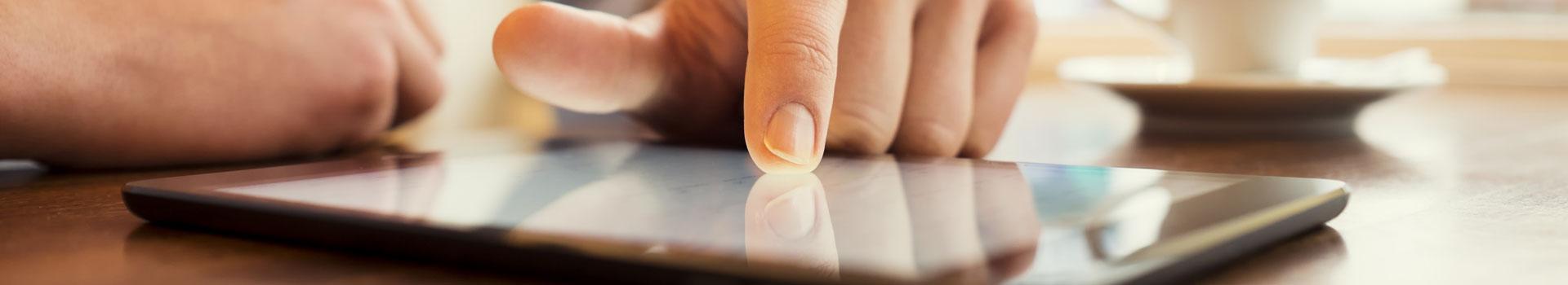 Bequem vom Tablet Strom udn GAs im Blick Im Mark E Online Center für Kunden