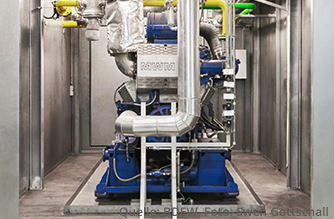 (Mini-) Blockheizkraftwerke mit Erdgas eine energie-effiziente Art der Heizung (Quelle: BDEW, Foto: Swen Gottschall)