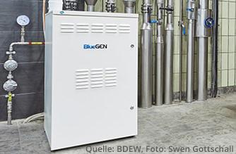 Auch für die Nutzung von Brennstoffzellen lohnt sich ein Erdgasanschluss (Quelle: BDEW, Foto: Swen Gottschall)