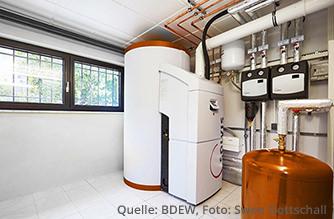 Die Brennwertheizung - ausgereifte und effiziente Technologie für das Heizen mit Erdgas (Quelle: BDEW, Foto: Swen Gottschall)